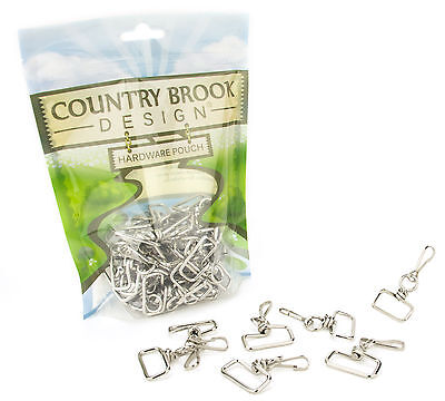 50 - Country Brook Design 1 Inch Swivel Square Top Lanyard Hooks - $9.95