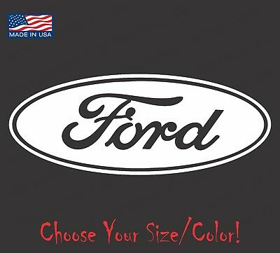 Ford Oval Emblem Vinyl Decal Sticker for Truck Racing 4x4 GT Mustang F150 F250 Ford Oval Decal