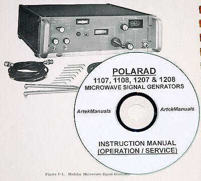 Polarad 1107 1108 1207 1208 Microwave Generator Operating Service Manual