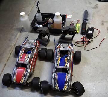 2 x Traxxas Nitro Sport Radio Controlled Race Trucks