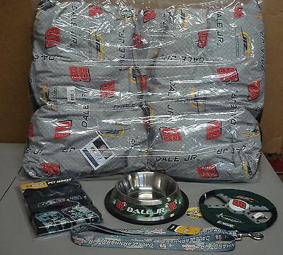 New Nascar #88 Dale Earnhardt Jr. 5 Piece Lot Dog Bed/Bowl/Leash More #58