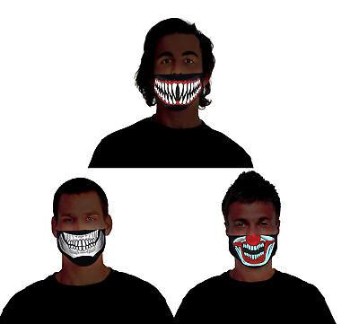 Morph Light Up Halloween Costume Masks Clown Skeleton Reaper