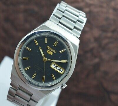 Genuine Seiko 5 Day Date 21 Jewels 7S26A Automatic Movement Men's Wrist Watch