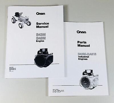 Massey Ferguson 1655 Garden Tractor Onan B43m 16hp Engine Service Parts Manual