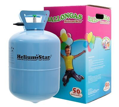 Helium Marken Ballongas HeliumStar 0,42m³ Einwegflasche bis zu 50 Ballons Party