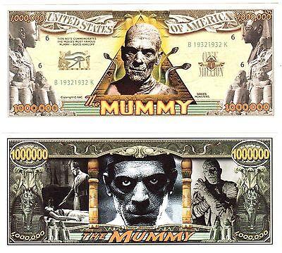 10- The Mummy Dollar Bills-NOVELTY Collectors -FAKE Halloween  Money  item -W](Fake Halloween Money)