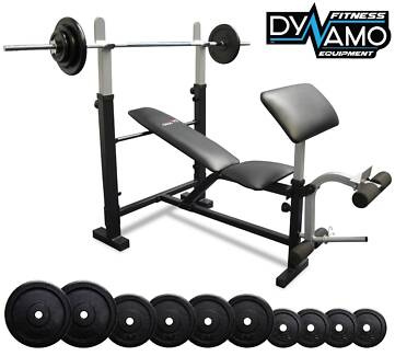 Bench Press 7ft Barbell 55kg Package Preacher Pad NEW in BOX