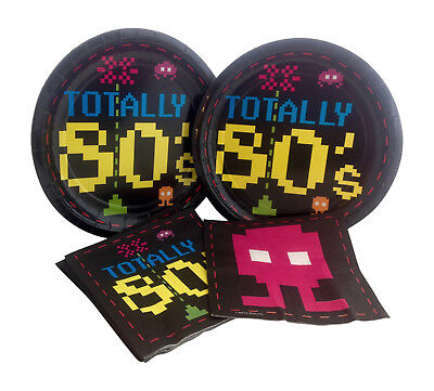 BACK TO THE 80/'s Arcade Video GAME Future Cutout Birthday Party Decoration