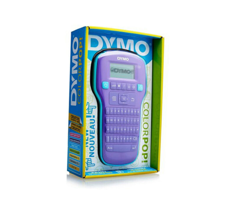 Dymo Label Printer Colorpop Handheld Portable Purple New In Box