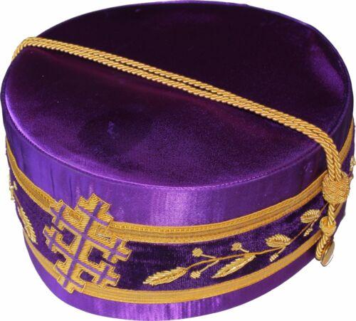 33 DEGREE MASONIC Grand Sovereign Crown Crowns CAP Purple HAT Size 59