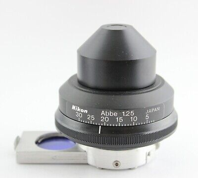 Nikon Microscope 1.25 Phase Contrast Ncb Blue Filter Condenser Ph3