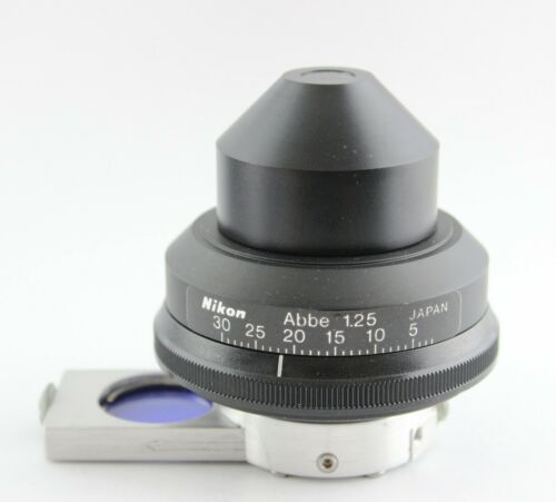 Nikon Microscope 1.25 Phase Contrast NCB Blue Filter Condenser Ph3 Alphaphot