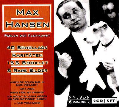 """Max Hansen """" Beads Der Cabaret """" 20 Shellac Rarities 2CD-Set New & Boxed"""
