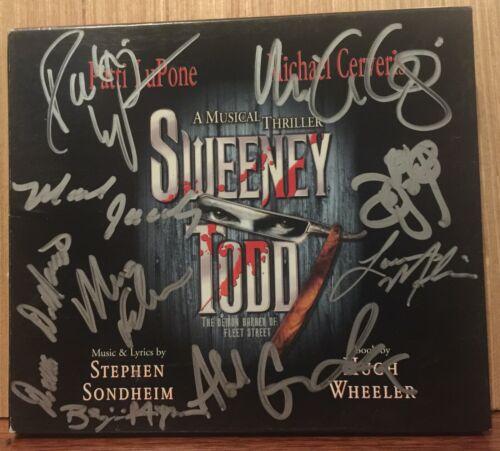 STEPHEN SONDHEIM & CAST SIGNED PATTI LUPONE MICHAEL CERVERIS SWEENEY TODD CD
