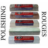 5 Polishing Compound Rouges Colors Black Brown White Green Blue Large 2lb Each