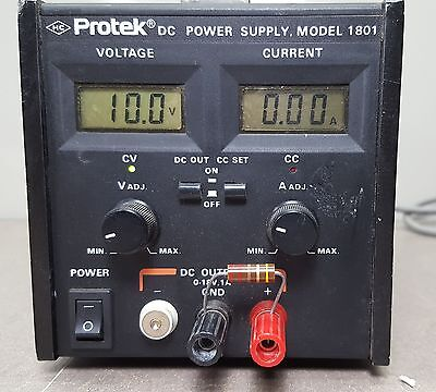 Protek Dc Power Supply 0 18vdc 1amp Model 1801