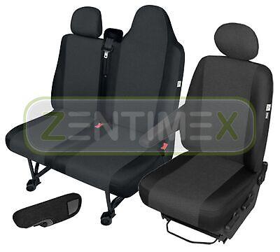 Stoff Sitzbezüge Sitzmatte Autositzbezüge Schwarz Für Renault Master.