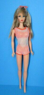 Vintage Barbie Doll TNT - TWIST 'N TURN Silver Ash Blonde Hair with Swimsuit