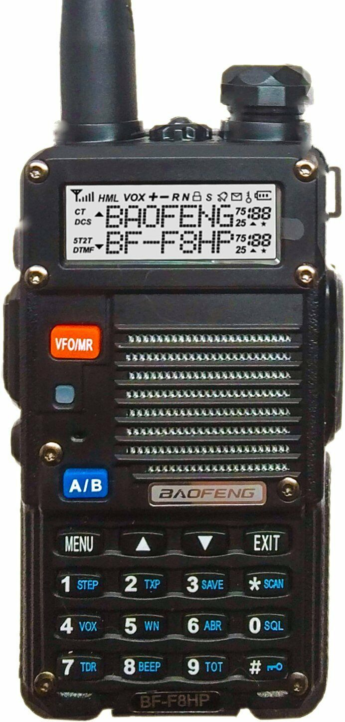 Baofeng Bf-f8hp 8w Tri-power Two Way Ham Radio Walkie Tal...