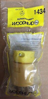 Daniel Woodhead 1434 Super Safeway Straight Blade Plug Nema 7-15p 15a 277v