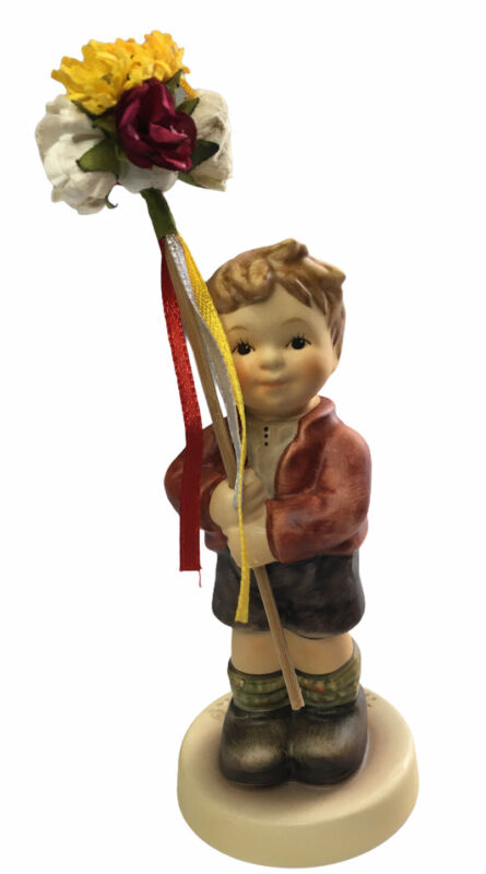 Goebel Hummel Collectible Figurine 2273 SPRING GIFTS Boy with Flowers