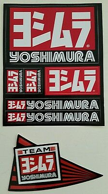 Yoshimura sticker lot..   7 stickers race exhaust cbr honda suzuki yamaha