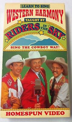 Western Harmony VHS-Riders In The Sky-Learn To Sing