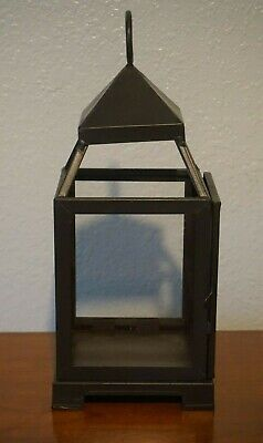 Pottery Barn Malta Lantern Candle Light Holder Bronze Metal Small  ()