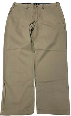 Nautica Mens Khaki Pants Soft Twill Classic Fit 38x30 Cotton blend (Store Return