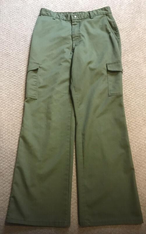 BSA Boy Scout of America Pants - Youth/Young Men Green Uniform Pants - Size 20