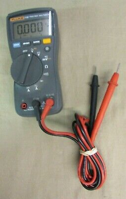 Fluke 115 True-rms Digital Multimeter Free Shipping Shows Some Wear