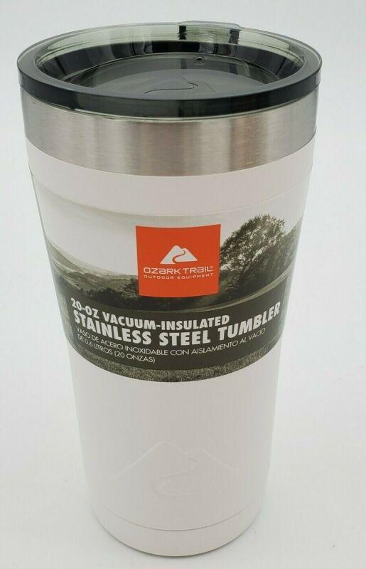 Ozark Trail 20 Oz. Vacuum Insulated Powder Coated White Tumbler 84-993