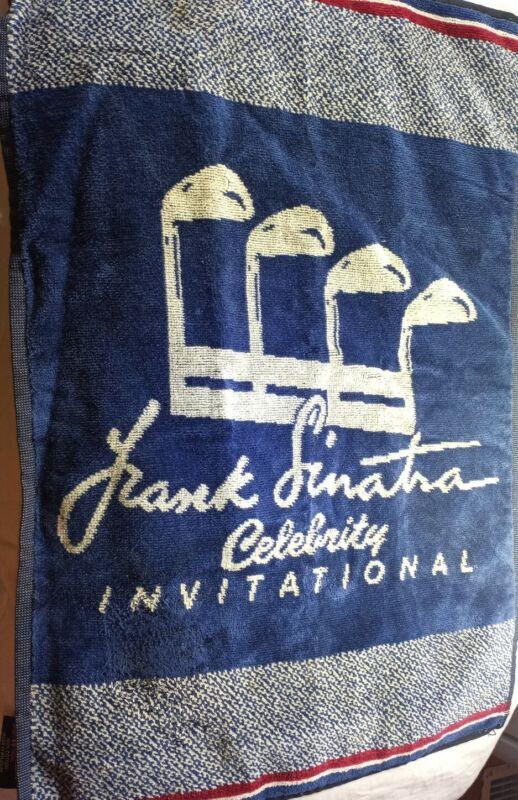 RARE Frank Sinatra Celebrity Invitational Golf Tournament Towel 90s Blue