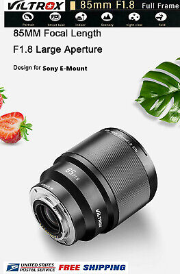 VILTROX PFU RBMH 85mm F1.8 AF lens Auto Focus Lens For Sony E Mount Camera