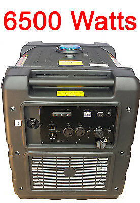 Digital 6500 Watt Gas Generator Pure Sinewave Inverter Quiet Portabla Rv Camping