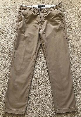 Abercrombie & Fitch Men's Slim Straight Khakis Size 31W/32L