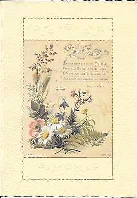 Happy Birthday Victorian Botanical Flowers Raphael Tuck & Sons Greeting Card