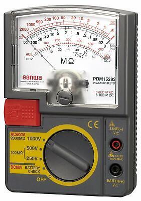 Sanwa Electric Meter Analog Insulation Resistance Meter Pdm1529s 1000v 500v 250v