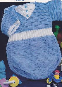 Newborn Romper Crochet Pattern - Free Crochet Patterns