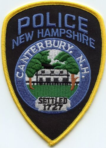 CANTERBURY NEW HAMPSHIRE NH yellow border POLICE PATCH