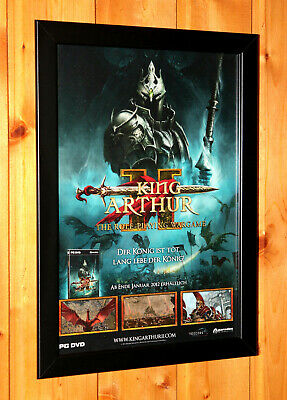 King Arthur II 2 The Role-Playing Wargame Rare Small Poster / Ad Page Framed