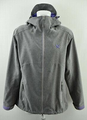 KARI TRAA Womens Jacket Outdoor Hooded Grey Zip Neck Long Sleeve Size XL