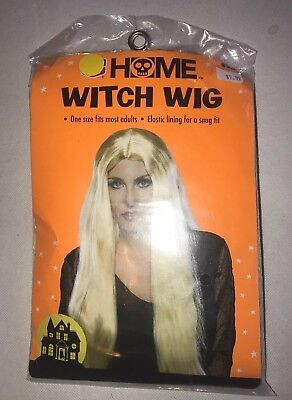 Halloween Wig Home Witch Wig Blond Long Monster Adult NEW