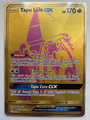 x1 Pokémon TCG - Tapu Lele GX SV94/SV94 (Gold) - HIDDEN FATES - Near Mint (NM)