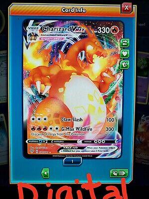 Charizard V MAX VMAX Pokemon TCG Online PTCGO 020/189 DIGITAL CARD SENT FAST