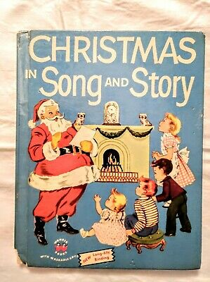 Christmas in Song and Story Wonder Books 1953 Art Stories Music Songs ()