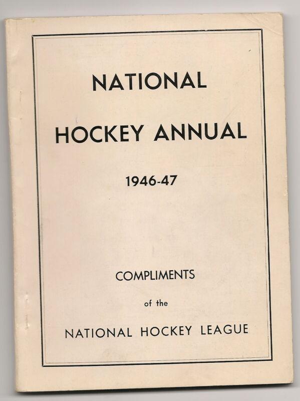 1946-47 National Hockey Annual NHL Gem RARE!!