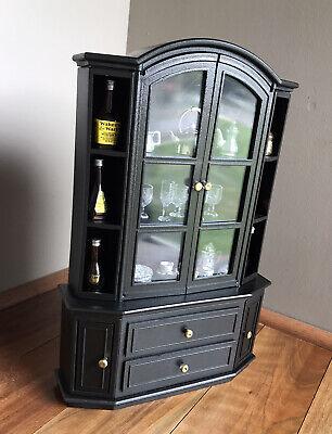 Ooak Barbie Furniture 1:6 Scale Dining Hutch Cabinet Tea Set Liquor Glasses