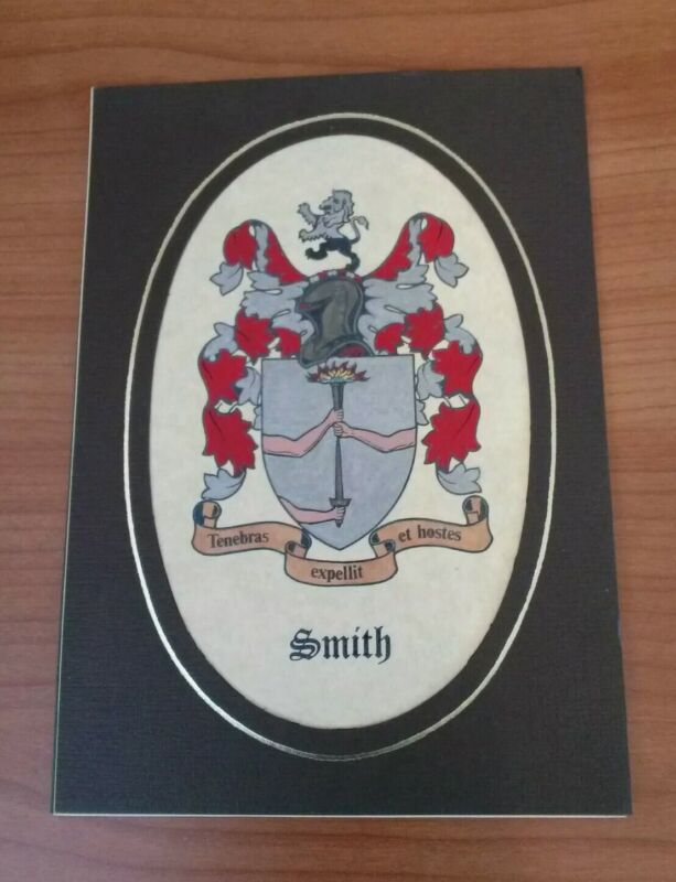 SMITH Family Coat of Arms Castle Heraldics Hand Painted in Ireland