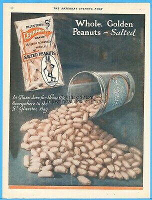 1920s Style Purses, Flapper Bags, Handbags 1921 Planters Red Pennant Bag Mr. Peanut Vintage 1920's Snack Food Glass Jar Ad $24.99 AT vintagedancer.com